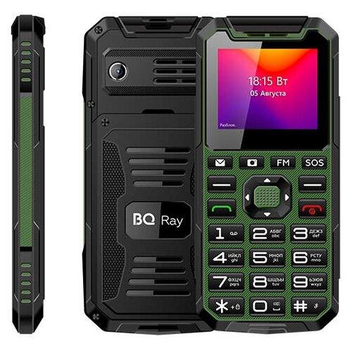 Телефон BQ 2004 Ray черно-зеленый  - купить со скидкой
