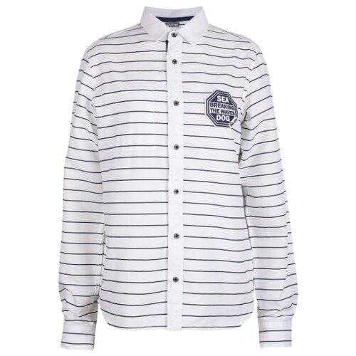 Купить Рубашка Gulliver размер 146, белый/синий, Рубашки