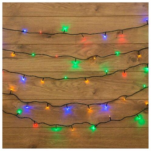 Фото - Гирлянда NEON-NIGHT Твинкл Лайт, 120 LED, 1500 см, разноцветный/зеленый провод гирлянда свечи 6м темно зеленый пвх 30 led тепло белые
