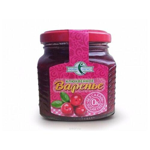 Варенье Мир вкусов Клюква без сахара на эритрите, банка 250 г