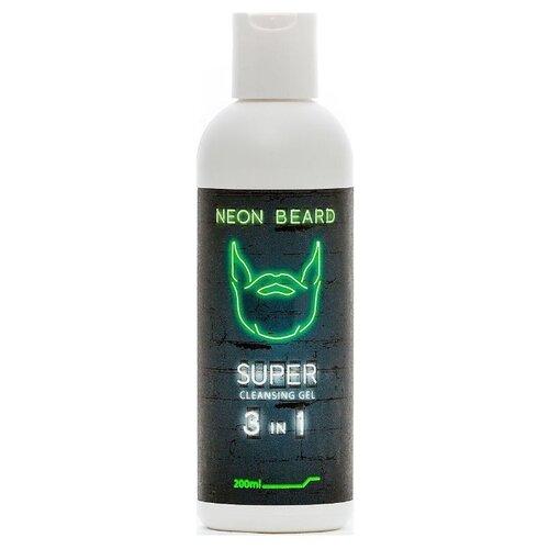 NEON BEARD Гель для умывания Green Neon 200 мл