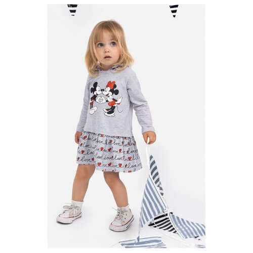 Платье playToday размер 74, светло-серый