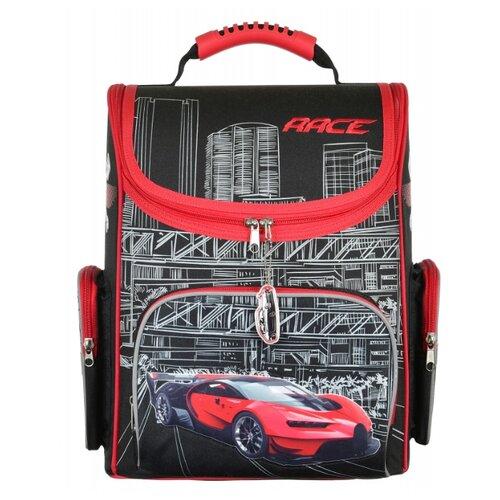 Silwerhof Ранец Car с сумкой для обуви (1088880) красный/черныйРюкзаки, ранцы<br>