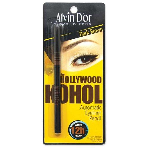 Alvin Dor Автоматический водостойкий карандаш The Hollywood, оттенок 02 Dark brown Kohol