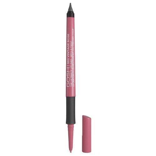 GOSH Карандаш для губ The Ultimate Lipliner-With a Twist 002 vintage rose карандаш для губ gosh gosh go025lwbckq6