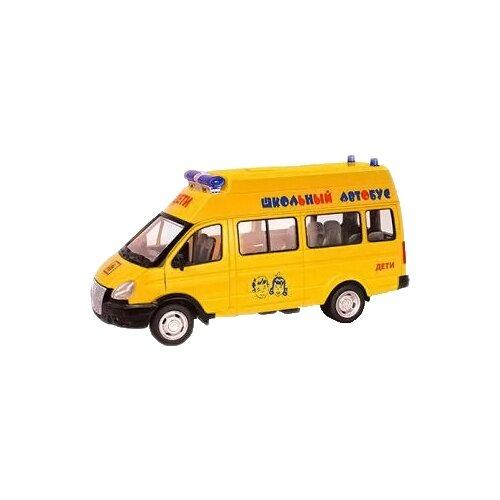 Автобус Play Smart Автопарк Школьный автобус (9707-C) 1:29 желтый