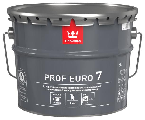 Краска Tikkurila Prof Euro 7 влагостойкая моющаяся матовая