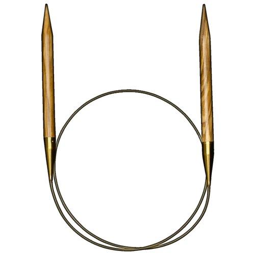 Купить Спицы ADDI круговые из оливкового дерева 575-7, диаметр 12 мм, длина 100 см, дерево