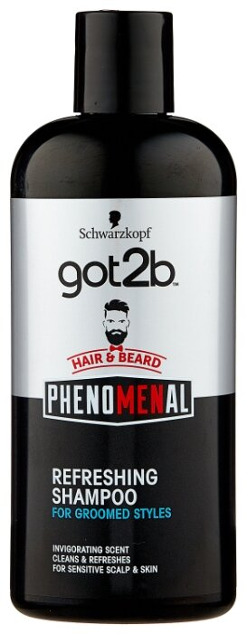 Got2b Шампунь для волос и бороды PhenoMENal