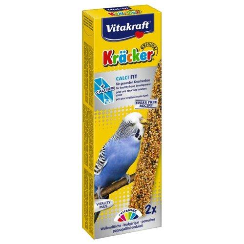 Лакомство для птиц Vitakraft Крекеры с медом и кальцием (21226) 60 г лакомство для кроликов vitakraft крекеры original свекла и овощи 112 г