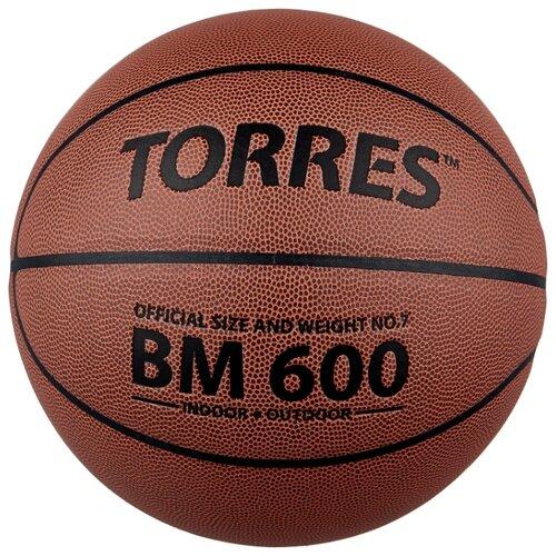 Баскетбольный мяч TORRES B10027, р. 7 темно-коричневый/черный