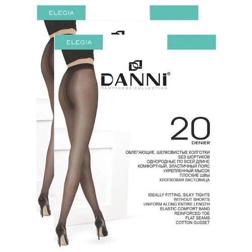 Колготки DANNI Elegia 20 den, размер 4, загар (коричневый), 2 пары колготки женские золотая грация шансон 20 цвет загар размер 4 46