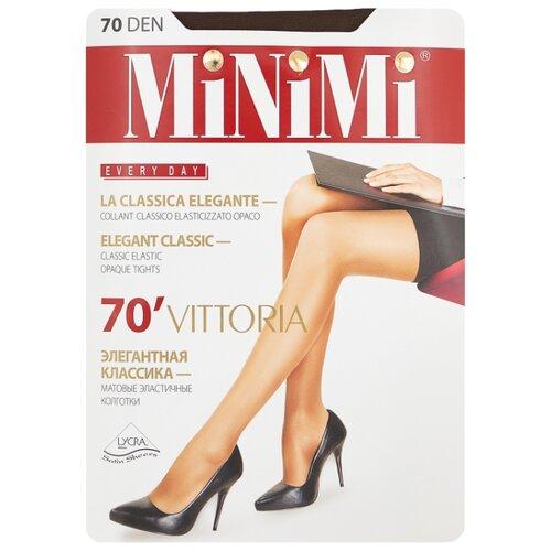 Колготки MiNiMi Vittoria 70 den, размер 2-S/M, cappuccino (коричневый) колготки minimi vittoria 20 den размер 5 xl cappuccino коричневый