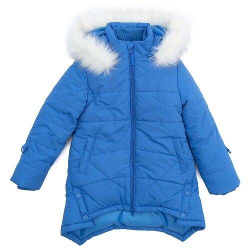 Купить Пальто playToday 372151 размер 104, голубой, Пальто и плащи