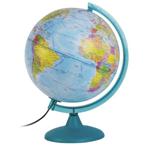 Глобус физико-политический Глобусный мир Двойная карта 250 мм (10546) голубой
