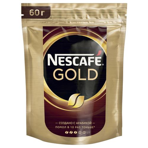 Кофе растворимый Nescafe Gold, пакет, 60 г nescafe gold 100