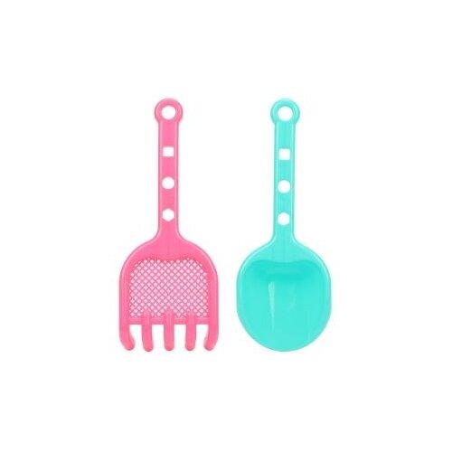 Набор Наша игрушка 639666 голубой/розовый, Наборы в песочницу  - купить со скидкой