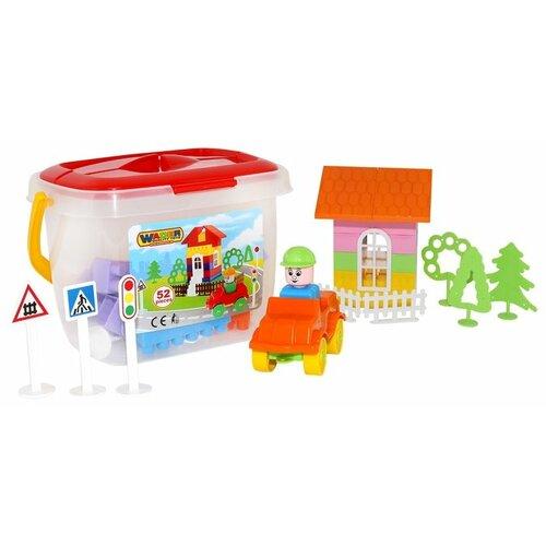 Купить Конструктор Wader Building Bricks 41234 52 детали, Конструкторы