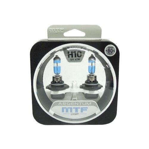 Лампа автомобильная галогенная MTF Argentum +80% H8A1210 H10 12V 42W 2 шт.