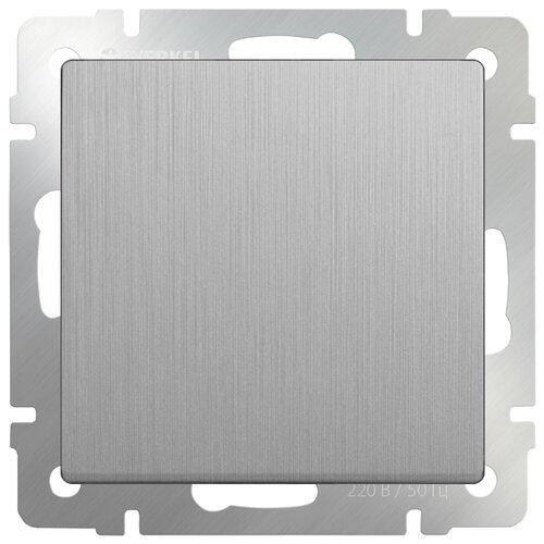 Выключатель 1-полюсный Werkel WL09-SW-1G-2W,10А, серебристый выключатель 1 полюсный werkel wl06 sw 1g 2w led 10а серебристый