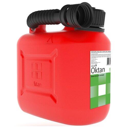 Канистра OKTAN 05.01.01.00-1, 5 л, красный канистра пластиковая oktan profi для гсм 20 л