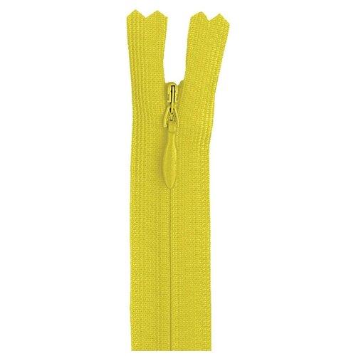 Купить YKK Молния потайная неразъемная 0004715/60, 60 см, 504 желтое солнце/желтое солнце, Молнии и замки
