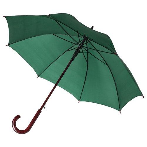 Зонт-трость полуавтомат Unit Standard (393) зелeный зонт трость полуавтомат unit standard 393 серебристый
