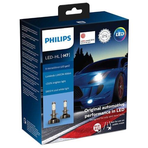 Лампа автомобильная светодиодная Philips X-tremeUltinon LED gen2 11972XUWX2 LED-HL [H7] 25W 2 шт. philips светодиодная лампа 4 режима света