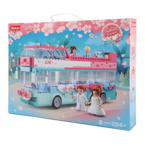 Конструктор SLUBAN Розовая мечта M38-B0769 Свадебный автобус, Конструкторы  - купить со скидкой