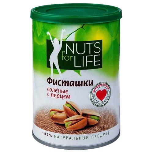 Фото - Фисташка Nuts for Life обжаренная соленая с перцем 175 г кешью nuts for life обжаренный