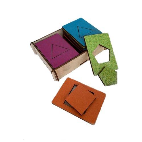 Рамка-вкладыш PAREMO Геометрические фигуры (PE720-19) разноцветный