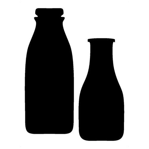 Комплект наклеек Melcom Молоко, меловая