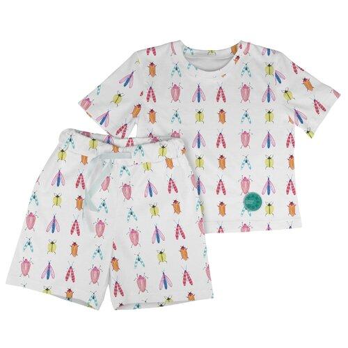 Фото - Пижама Marengo Textile размер 128, белый/желтый/розовый пижама marengo textile размер 128 зеленый белый розовый