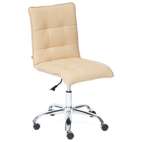 Компьютерное кресло TetChair Zero офисное, обивка: искусственная кожа, цвет: бежевый компьютерное кресло tetchair jazz офисное обивка искусственная кожа цвет бежевый коричневый 4230