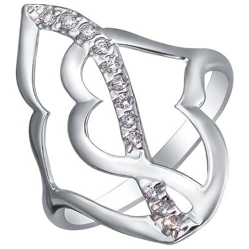 Эстет Кольцо с фианитами из серебра Н11К152516, размер 17 ЭСТЕТ