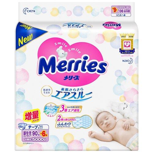 Купить Merries подгузники NB (0-5 кг), 96 шт., Подгузники