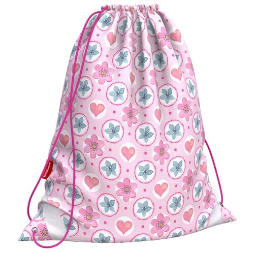 ErichKrause Мешок для обуви Pink Flowers (48266) розовый/белый/зеленый