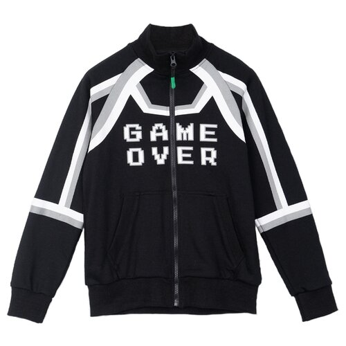 Купить Олимпийка playToday размер 98, черный/белый, Толстовки