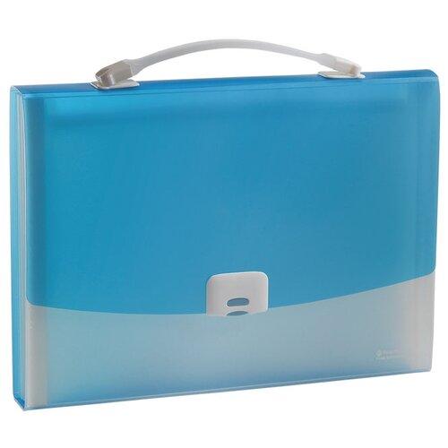 Panta Plast Папка-портфель FOCUS А4, 13 отделений голубой папка портфель без отделений а4 серебряная с черным клапаном