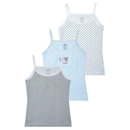 Купить Майка BAYKAR 3 шт., размер 170/176, белый/серый/голубой, Белье и купальники