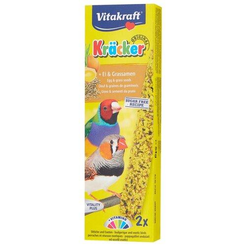 Лакомство для птиц Vitakraft Крекеры для экзотических птиц яичные (21258) 80 г