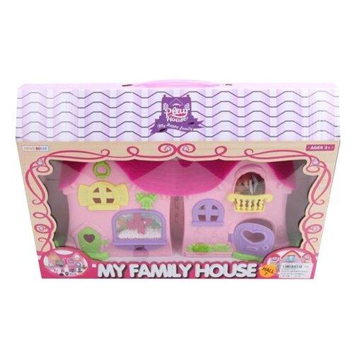 Наша игрушка Дом для куклы 8200-3, розовый игрушка