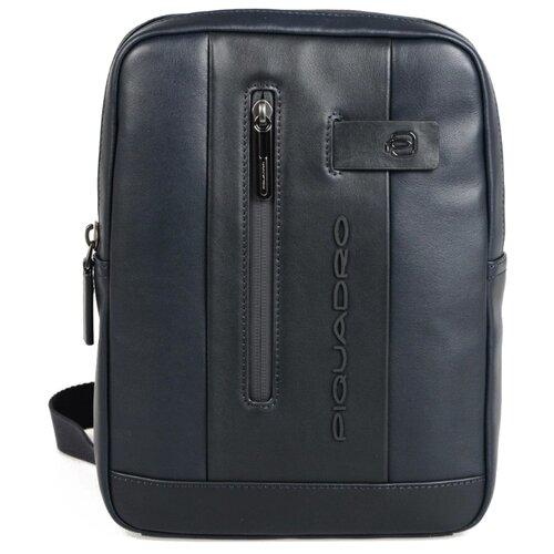 сумка планшет victorinox текстиль синий Сумка планшет PIQUADRO, натуральная кожа, синий
