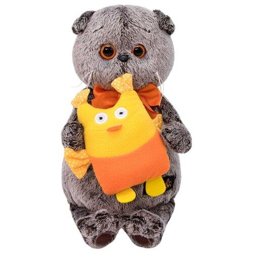 Купить Мягкая игрушка Basik&Co Кот Басик с совой 25 см, Мягкие игрушки