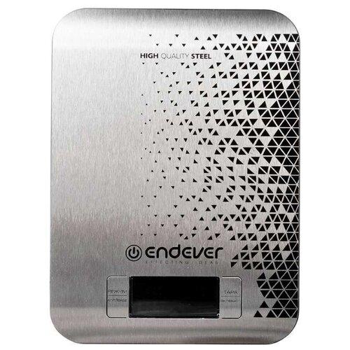 Кухонные весы ENDEVER Chief-536 серебристый/черный кухонные весы endever chief 538 серебристый