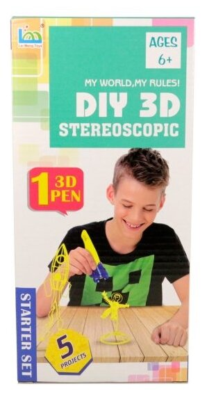 3D-ручка LeiMengToys Stereoscopic - Космический корабль фото 1