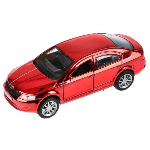 Купить Легковой автомобиль ТЕХНОПАРК Skoda Octavia 12 см хром красный, Машинки и техника