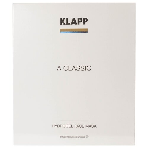Klapp Маска гидрогелевая A Classic Hydrogel Face Mask, 3 шт. the true rich cream aqua hydrogel mask a m f set