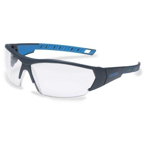Очки uvex i-works 9194171 прозрачный/черный/синий очки защитные uvex ай воркс 9194171