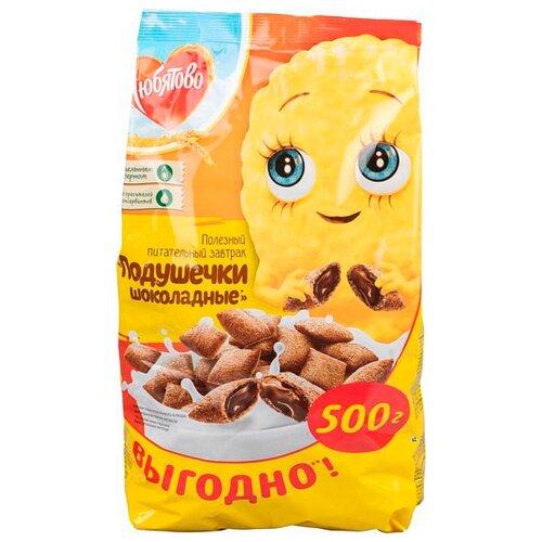 Готовый завтрак Любятово Подушечки шоколадные, пакет, 500 г
